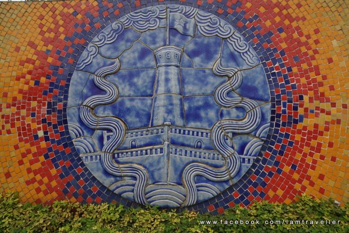 ภาพนี้เลียนแบบ Flag Tower ในเมืองฮานอย